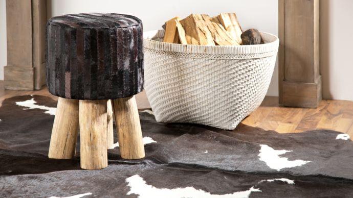 Sitzhocker Fell Holzaufbewahrung-neue Romantik