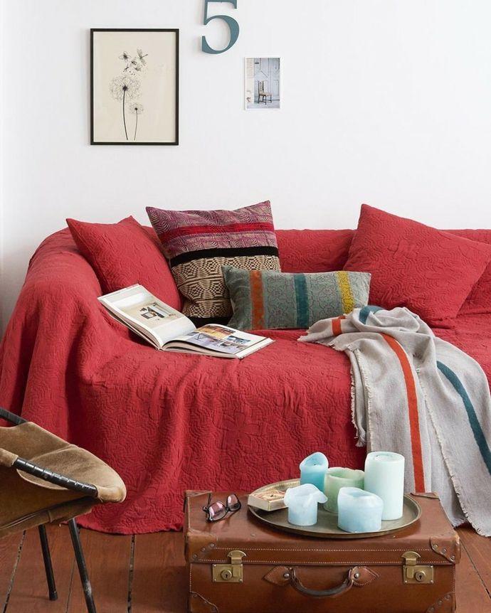 Sofa Überwurf Samt-Wohnaccessoires mit Samt