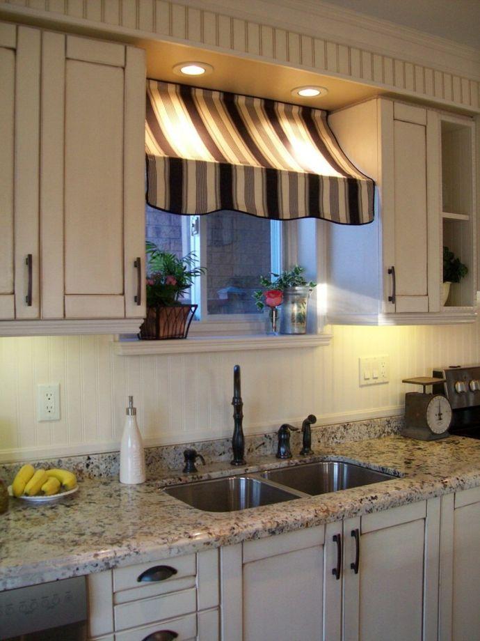 Sonnensegel moderne Küchen Arbeitsplatten aus Marmor-Küchengardinen