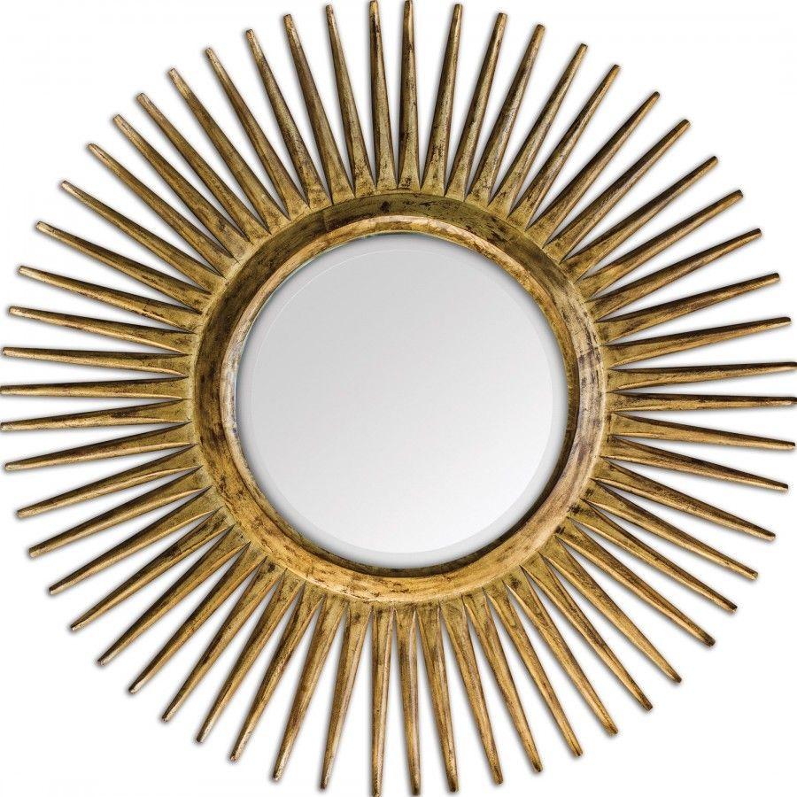 Spiegel Strahlen Luxus Goldgelb Designer-Wohnideen