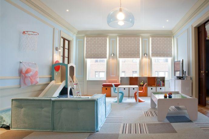 Spielraum sanfte Farben modern-Kinderzimmer ideen
