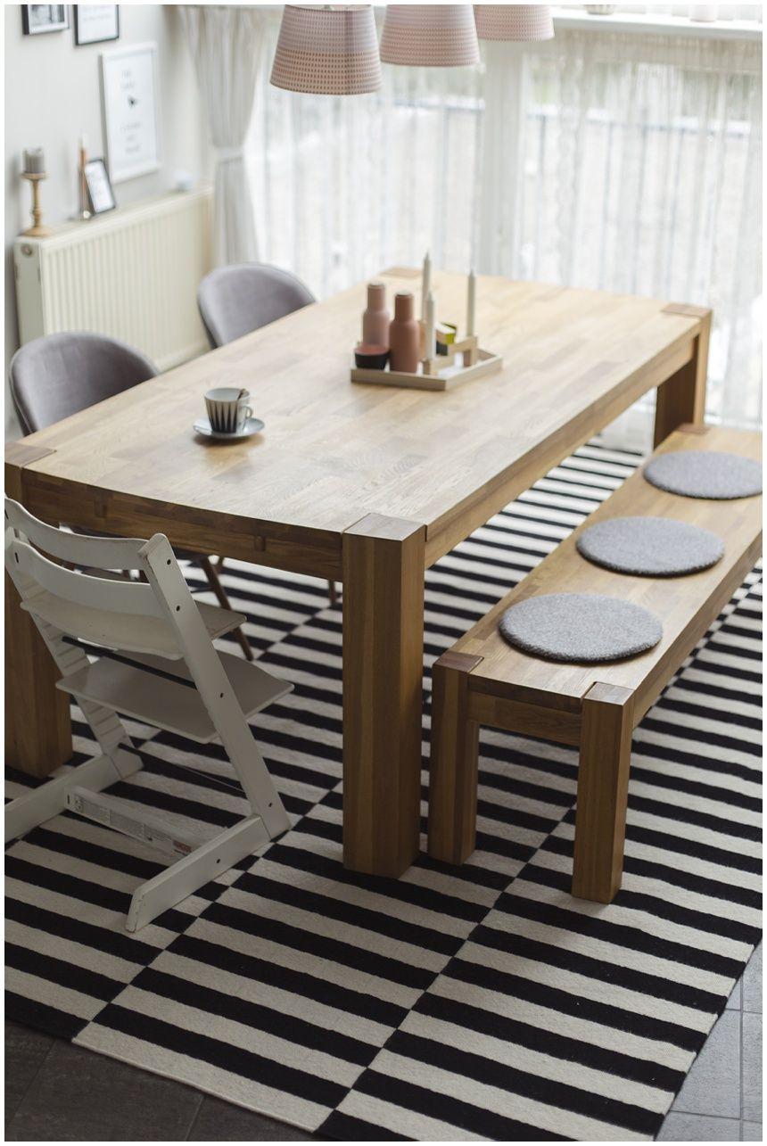 Teppich-esszimmer-Schwarz und Weiß-akzente-Teppich esszimmer design