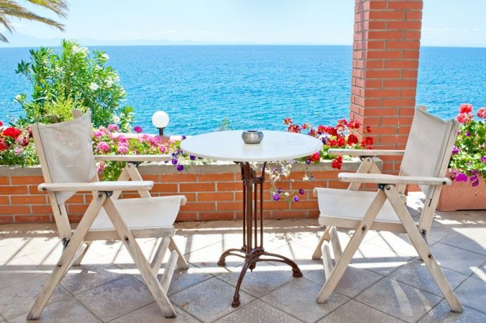Terrasse Lounge Gartenmöbel Sommersaison