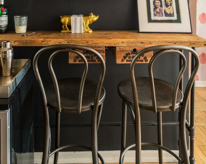 Tresen Barstühle aus Metall Bohemian industriell-Barhocker Barstuhl Design