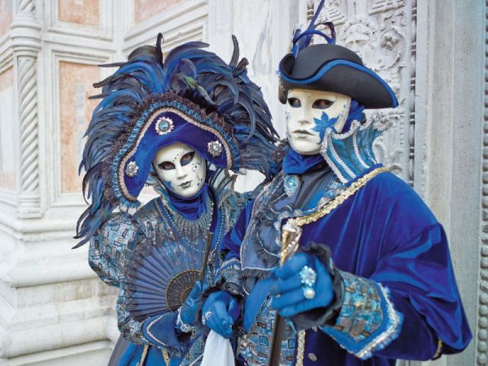 Verkledung am Karneval in Venedig-Karneval