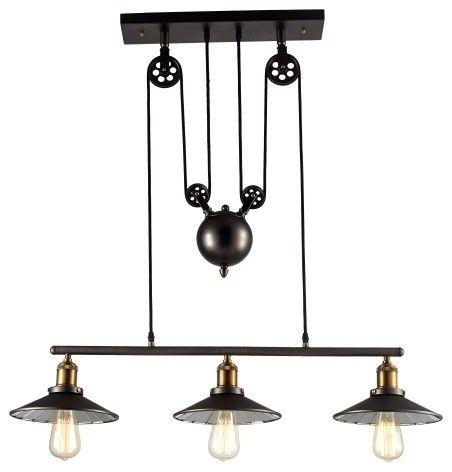 Vintage Loft Pendelleuchte Riemenscheibe-Industriedesign Hängeleuchte