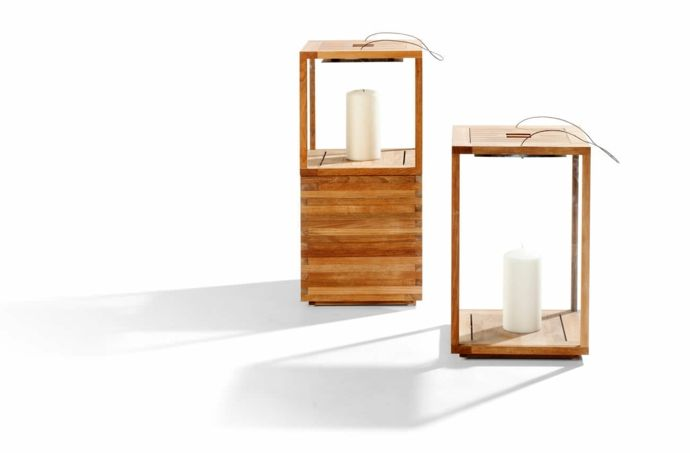 Windlicht Laterne Holz Deko gemütlich