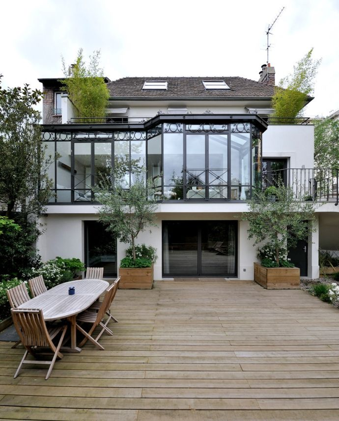 Wintergarten im Landhausstil-Gestaltung der Veranda