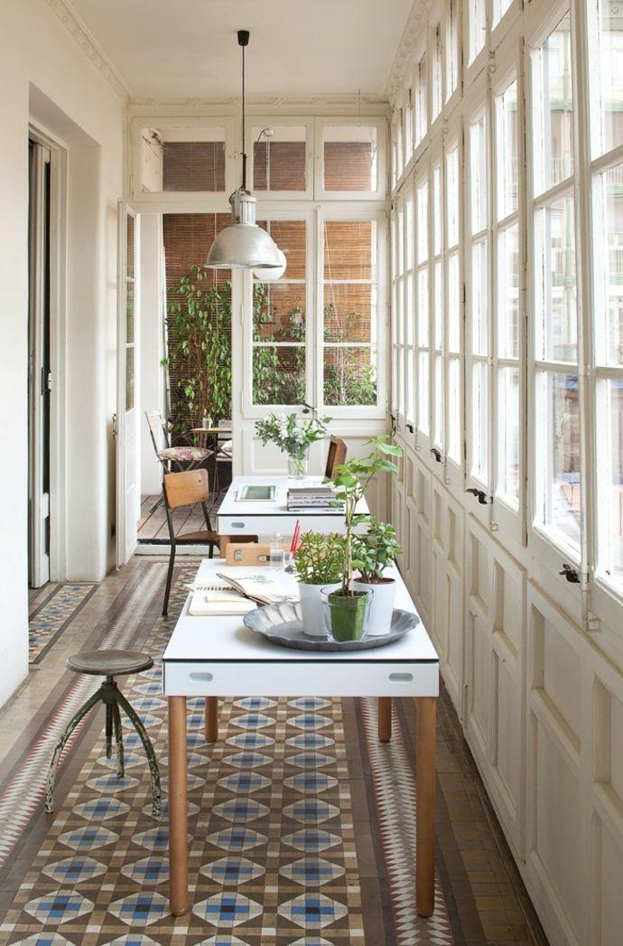 Wintergarten oder Arbeitszimmer-Gestaltung der Veranda