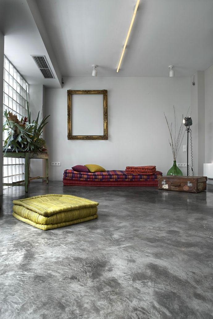 Wohnbereich Einrichtung-Transformation der Garage