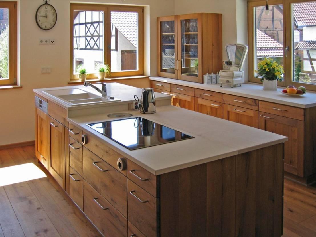 Wohnideen Küche Landhausstil Arbeitsplatten Holz-Küchen Ideen