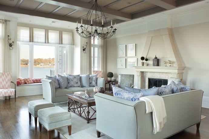 Wohnzimmer Geradliniges Sofa Kronleuchter aus Metal-Sitzmöbel