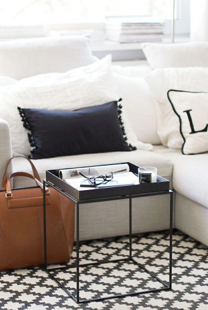 Wohnzimmer urban Schwarz Weiß elegant-Modernes Wohndesign