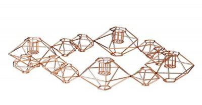 Abstrakter Kerzenständer für mehrere Teelichter aus Metal und Kupfer-Kerzenhalter aus Bronze