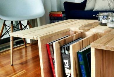 buchablage aus holz selber bauen. Black Bedroom Furniture Sets. Home Design Ideas