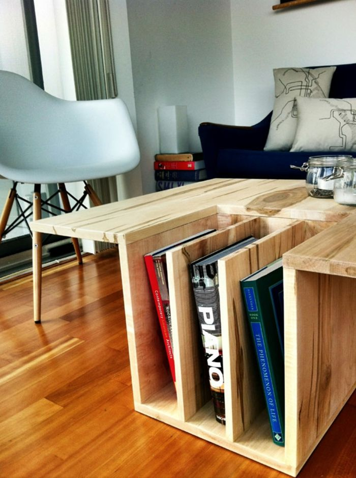 Aufbewahrung einzigartig-Buchablage aus Holz