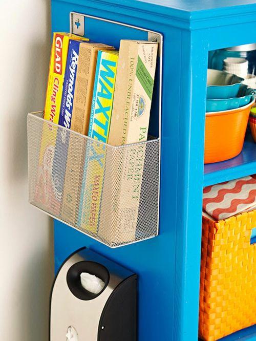 Aufbewahrung vom Küchenzubehör auf der Schrankseite-Aufbewahrung Ordnung Stehsammler Küche Küchenzubehör