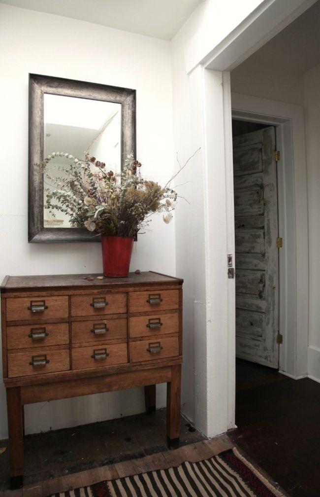 Authentische Vintage Kommode-Eklektische Wohnung Vintage rustikal