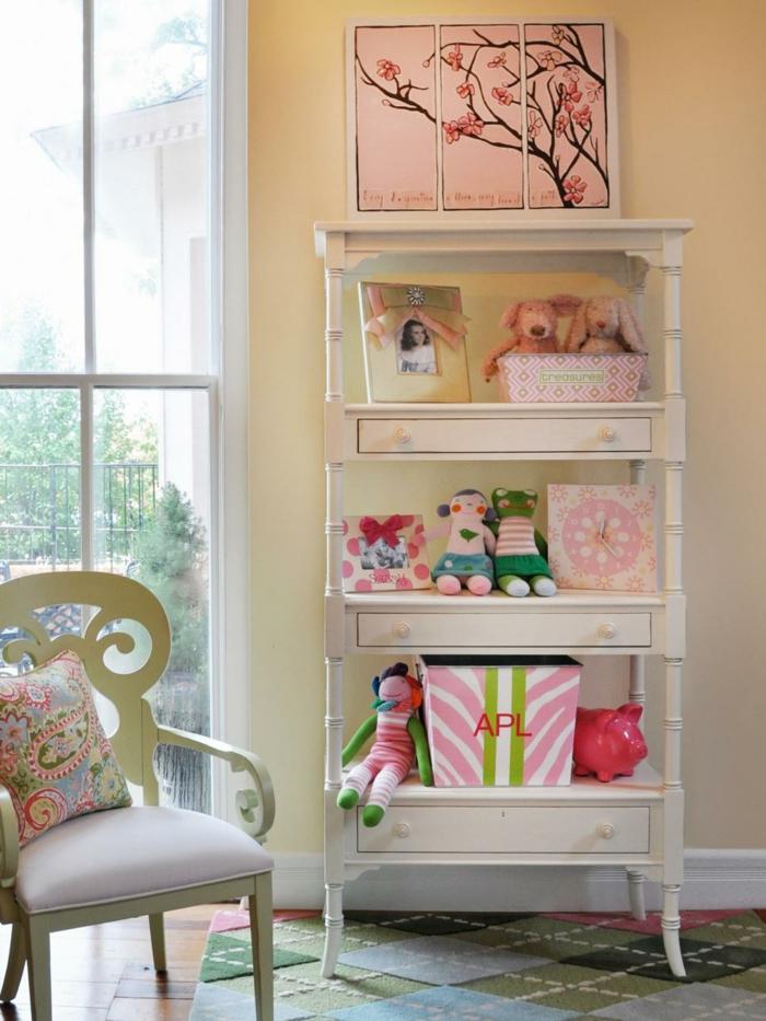 Bücherregal und Aufbewahrung im Kinderzimmer-Jugendschlafzimmer Kinderzimmer Mädchen