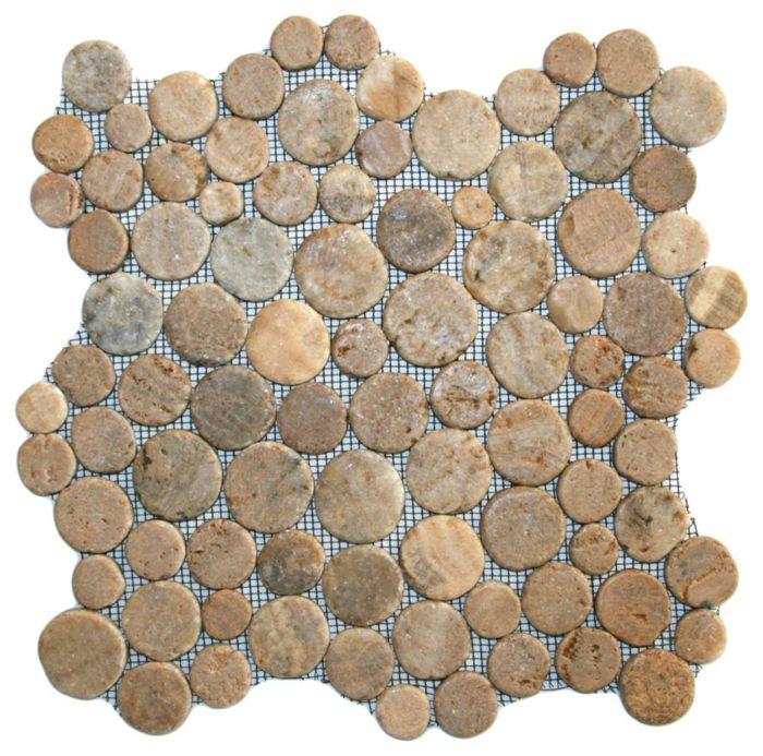 Badematte Mosaikfliesen rustikal-Einzigartige Deko Ideen Badezimmer