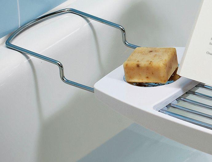Badewannenregal Metall Plastik Weiß