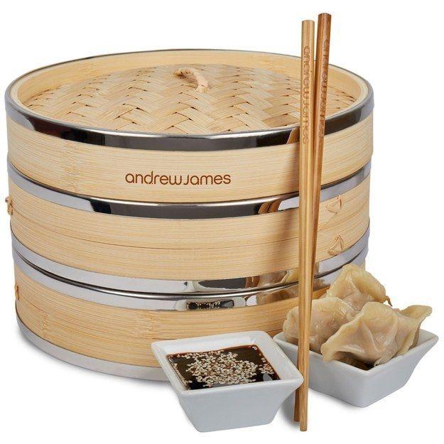 Bambusdämpfer für gesunde Speisen-Küchenhelfer asiatische Gerichte Zubereitung