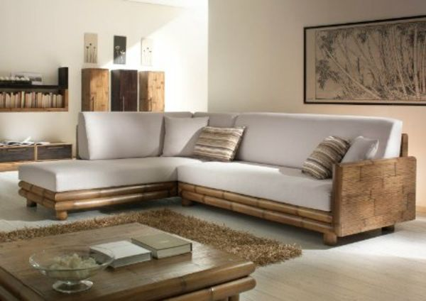 Bambusmöbel im Wohnzimmer-Bambus Dekoration