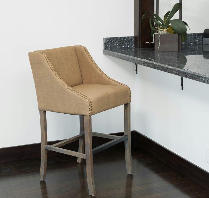 Barstuhl mit Füßen aus Holz-Barhocker für Ihre Küche