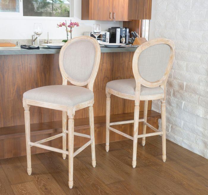 Barstuhl mit ovaler Rückenlehne am Küchentresen-Barhocker für Ihre Küche