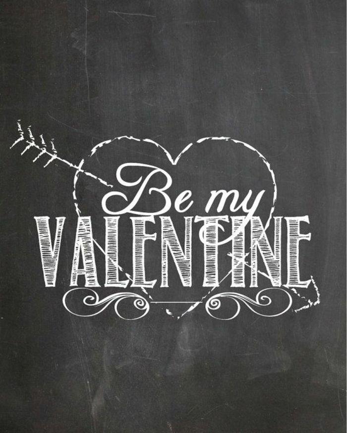 Be my Valentine Tafelwand-Deko Ideen zum Valentinstag