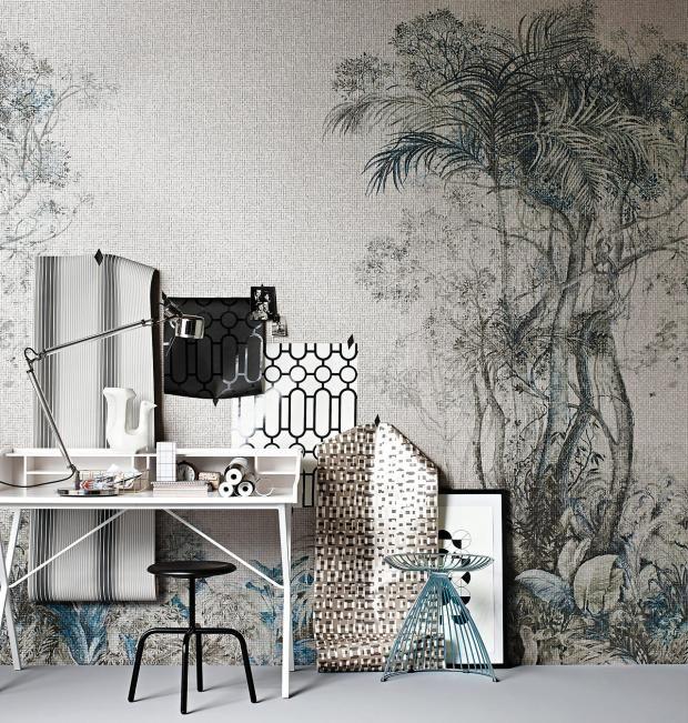 Beeindruckende Wandtapeten mit geometrischen Mustern-weiß Glanz Wandgestaltung Wohnzimmer Schlafzimmer
