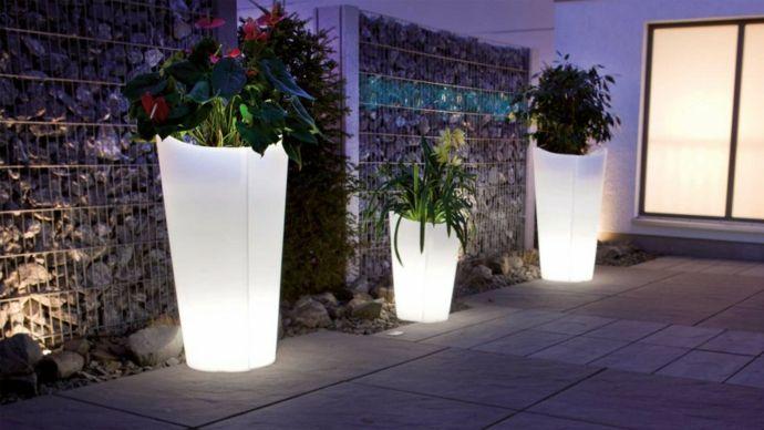 Beleuchtungskörper Pflanzkübel Garten Hinterhof-Designer Garten Leuchten