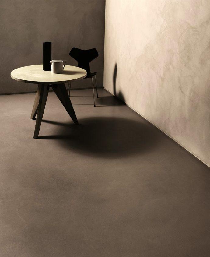 Betonoptik im Used Look und Zementboden-Minimalistisches Design