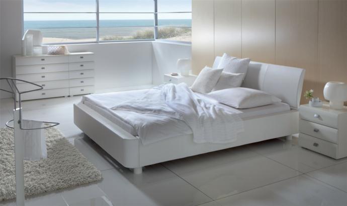 Bett Buchenholz Kommoden Nachttisch Weiß-Schlafzimmermöbel