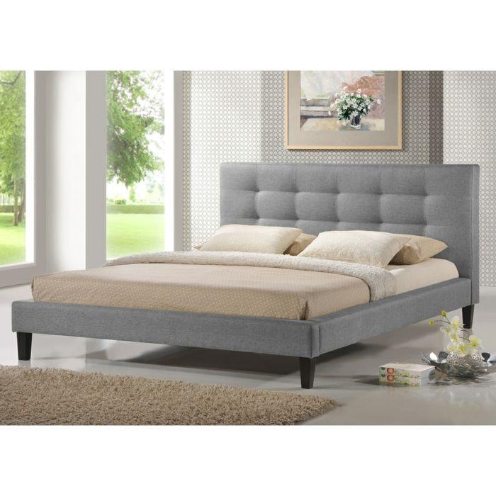 Bett in Grau mit Kopteil-Schlafzimmer Luxusbetten