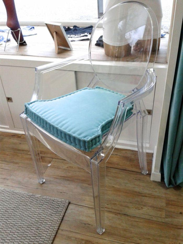 Blaues Sitzkissen Ghost Stuhl modern-chair-Stuhlkissen