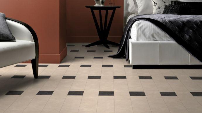 Bodenbelag in Beige und Dunkelbraun-Bodenfliesen moderne Textur