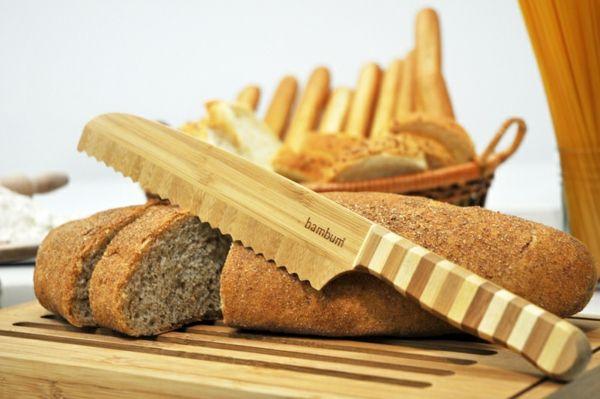 Brotmesser und Schneidbrett aus nachhaltiger Bambus-Bambus Dekoration
