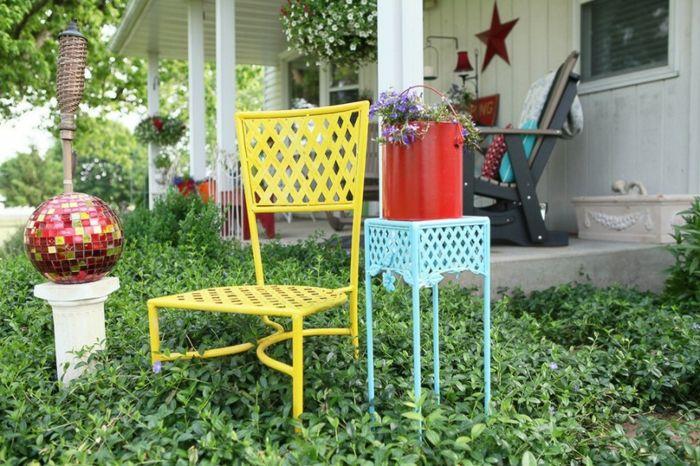 Bunte Dekoration-Gartenmöbel aus Metall
