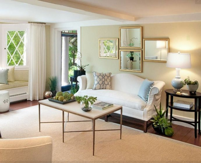 Camelback Sofa in Weiß zeitlose Eleganz fürs Wohnzimmer-Sofa Design