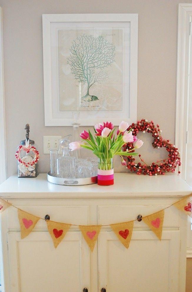 Chic DIY Girlande-Valentinstag Interieur Dekor