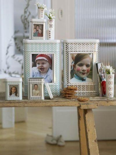 Cookie-Dosen mit fröhlichen Kinderbildern-Schnelle und leichte selbstgemachte Geschenkideen DIY