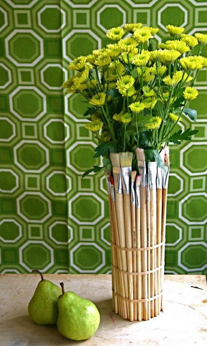DIY aus Pinseln-Moderne Ideen für Vasen DIY