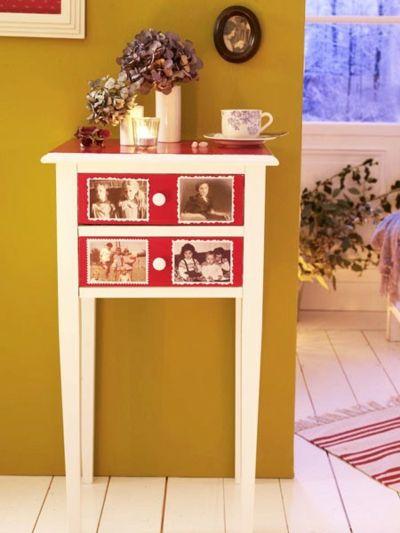 Das Flurschränkchen mit Fotos neu gestalten-Schnelle und leichte selbstgemachte Geschenkideen DIY