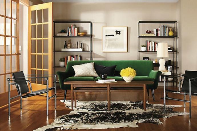 Das Mid century modern Sofa im modernen Wohnzimmer-Sofa Design