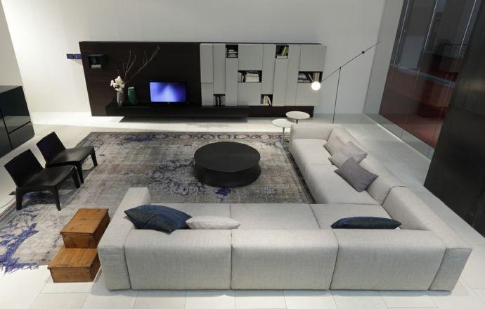 Das Schnittsofa für größere Räume-Sofa Design