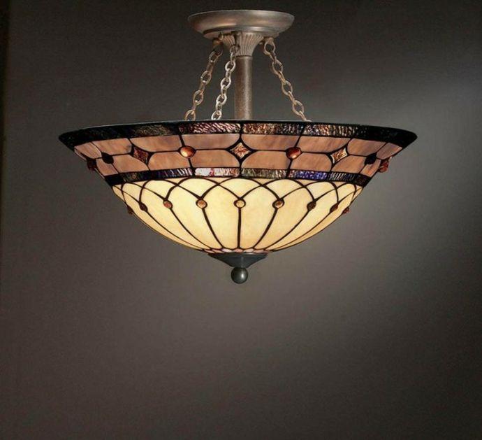 Deckenleuchte Glas modern Bronze rund-Orientalische Lampen