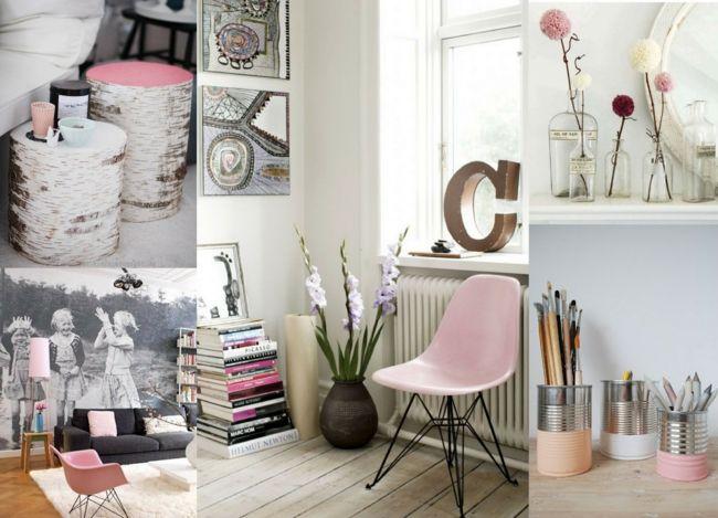 Die wohnung nach den letzten modetrends gestalten - Rosa deko wohnzimmer ...