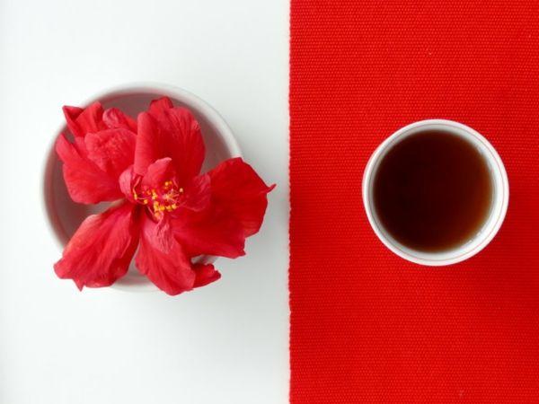 Der Hibiskustee hat einen leicht säuerlichen Geschmack-Hibiskustee Wirkung heilsame Teesorten Teepflanze