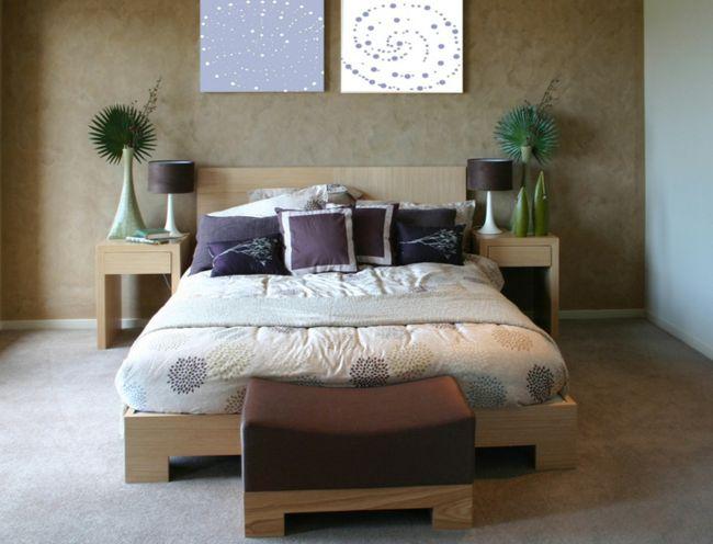 Der Kopf steht an einer soliden Wand-Feng Shui fürs Schlafzimmer Bett Positionierung